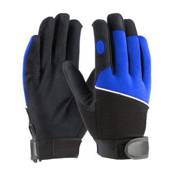 LD-934-B Mechanics Gloves with Blue Back Spandex