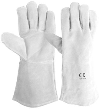 "LD-323 Grey Welders Gloves 16"" Long"