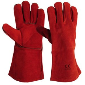LD-335-R Welders Gloves Red Welted Seams