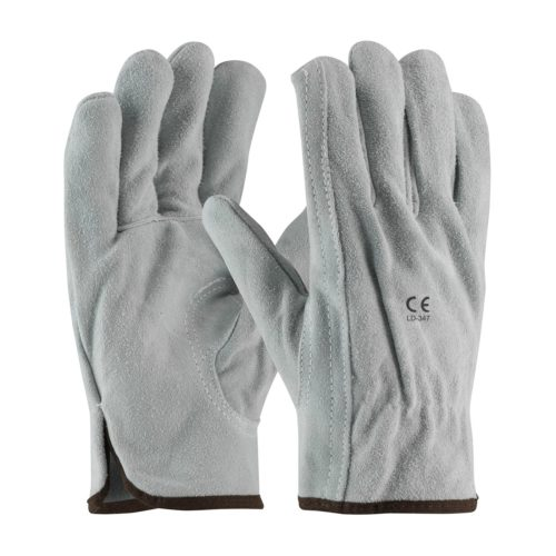 LD-347 Driver Gloves Split Leather Grey
