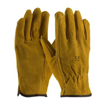 LD-450 Drver Gloves Split Leather Brown