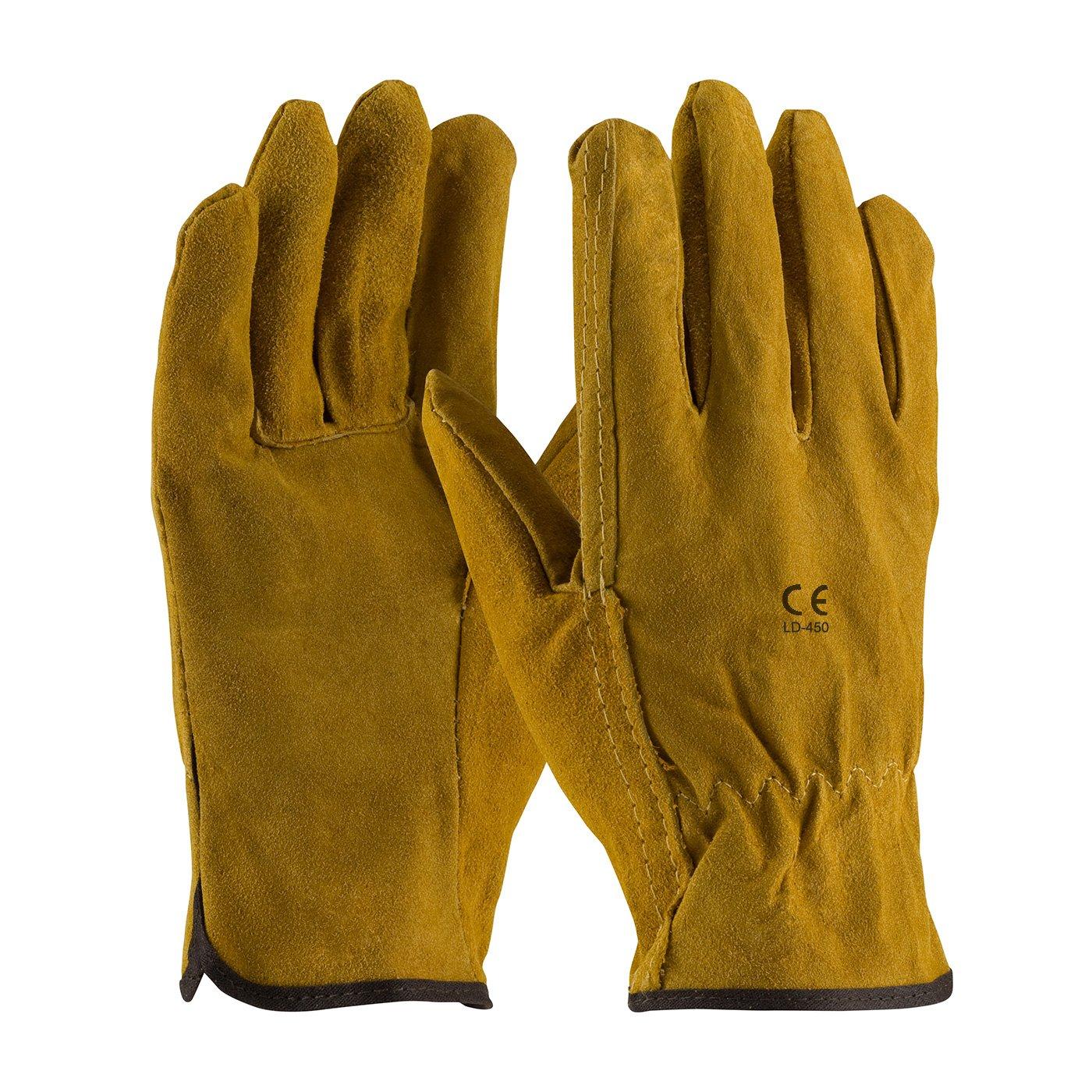 LD-450 Drver Gloves Split Leather Brown