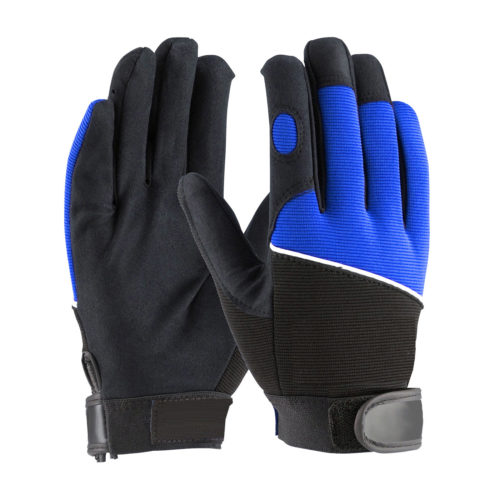 LD-934-B Mechanics Gloves with Blue Back Spandex