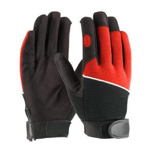 LD-934-R Mechanics Gloves Red Back