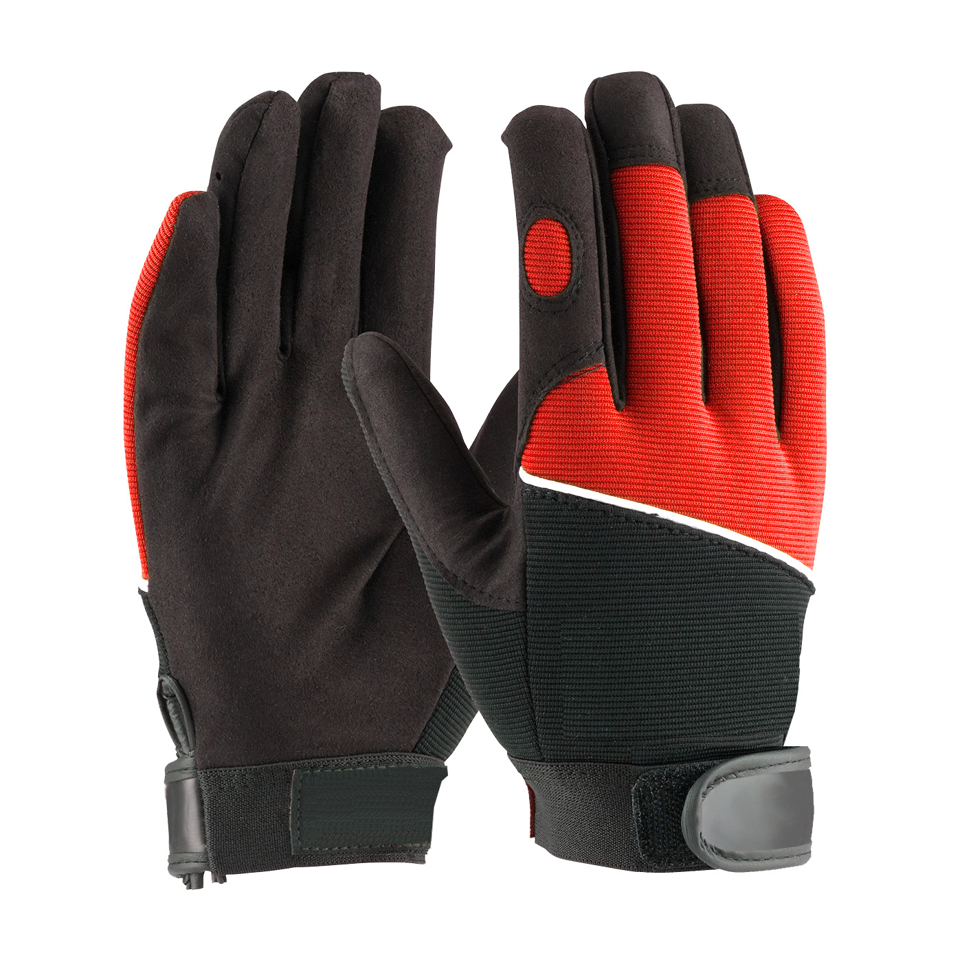 LD-934-R Mechanics Gloves Red Back