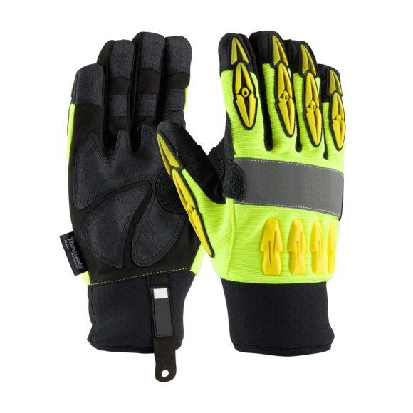 LD-963 Impact Gloves Hi-Viz Back
