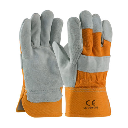 LD-338-OG Work Gloves Orange Cuff