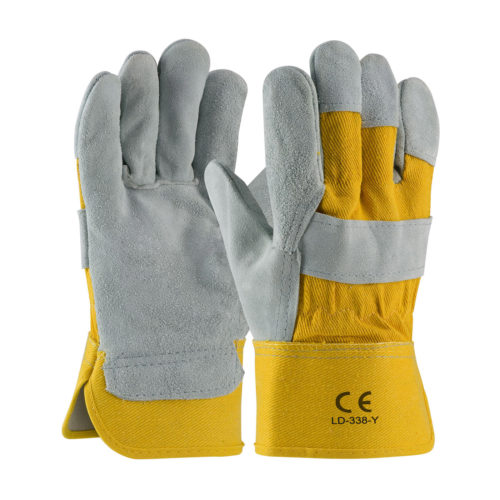 LD-338-Y Work Gloves Yellow Cotton