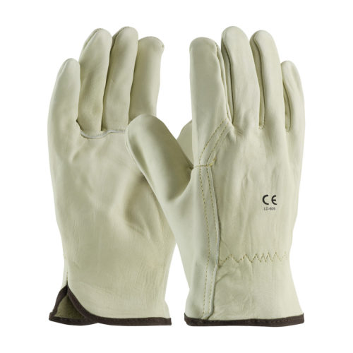 LD-605 Driver Gloves Beige Wing Thumb Cowhide