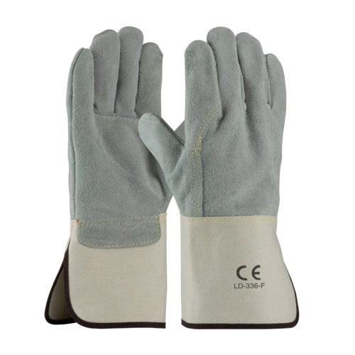 LD-336-F Split Leather Gloves Full Back