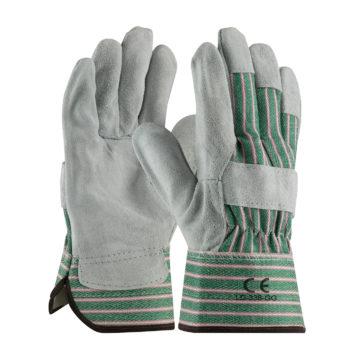 LD-338-GG Work Gloves Green Striped