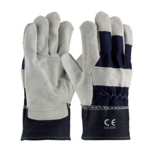 LD-374 Oil Work Gloves Heavy Duty Blue Denim Cuff