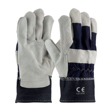 LD-374 Oil Work Gloves Heavy Duty Blue Denim Cuff
