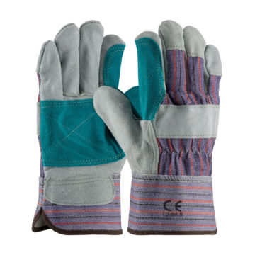 LD-391-B Double Palm Split Leather Gloves
