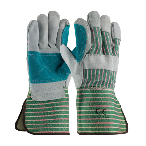 """LD-391-GG-4"""" Wide Cuff Leather Double Work Gloves"""