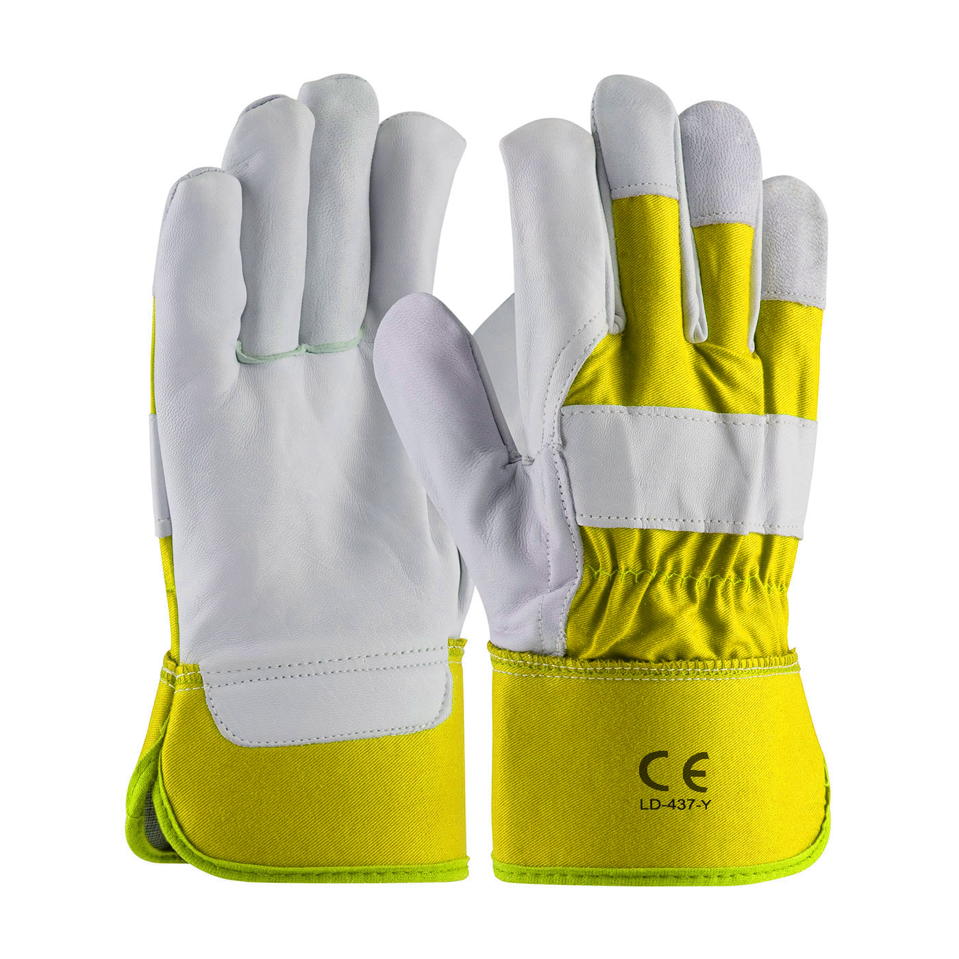 LD-437-Y Work Gloves Grain Leather