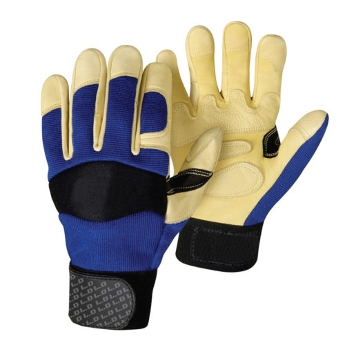 LD-913 Mechanics Gloves Blue Back